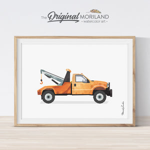 Tow Truck printable Wall Art Print for boy bedroom decor