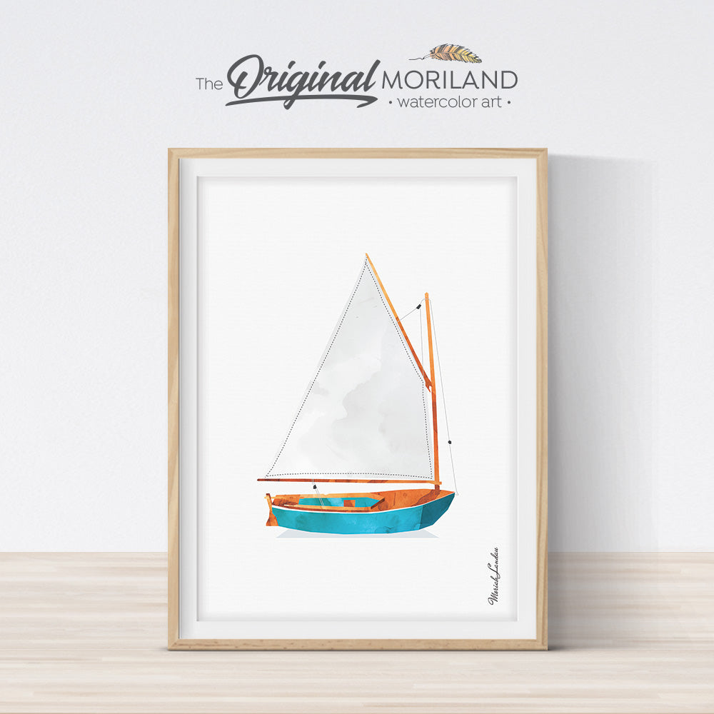 Sailboat wall art for kids bedroom decor