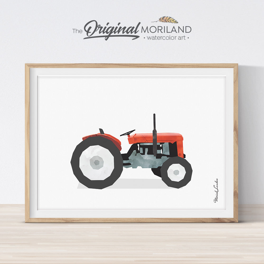 Tractor Wall Art, Tractor Nursery, Tractor Printable, Transportation Decor, Vehicle Art, Farm Vehicles Preschool, Boys Room Art, Farmhouse