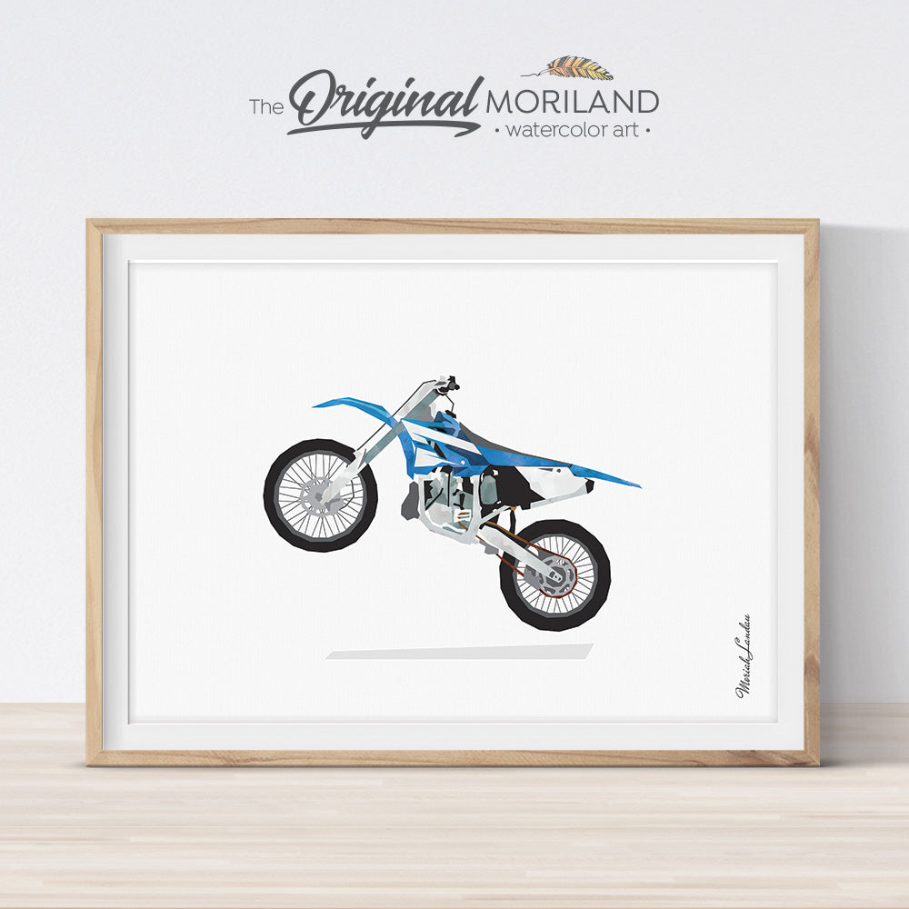 Dirt Bike Print, Dirt Bike Decor, Motocross Wall Art, Transportation Prints, Motorbike Decor, Vehicles Art, Toddler Boy Wall Art, Printable