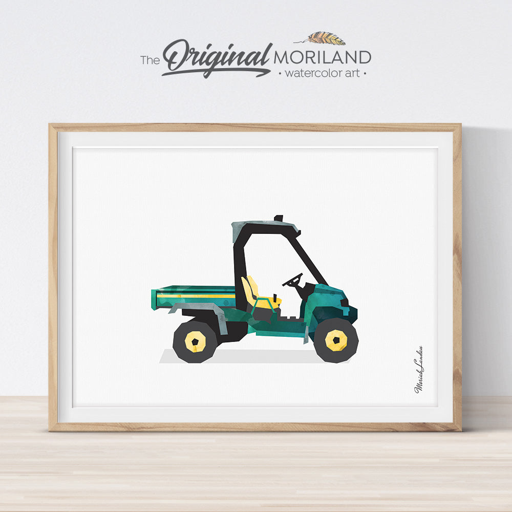 Utility Vehicle Farm Print for Kids room decor