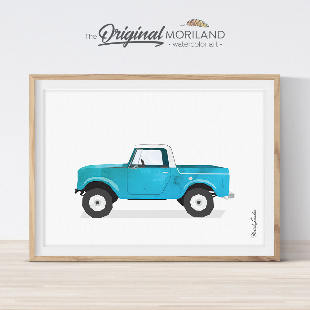 International scout Pickup Truck Wall Art for boys and girls room decor