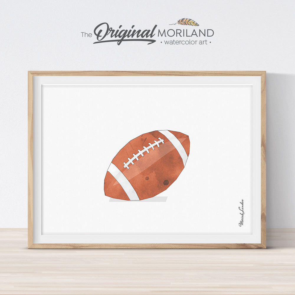 football art print for sports big boy room decor by MORILAND