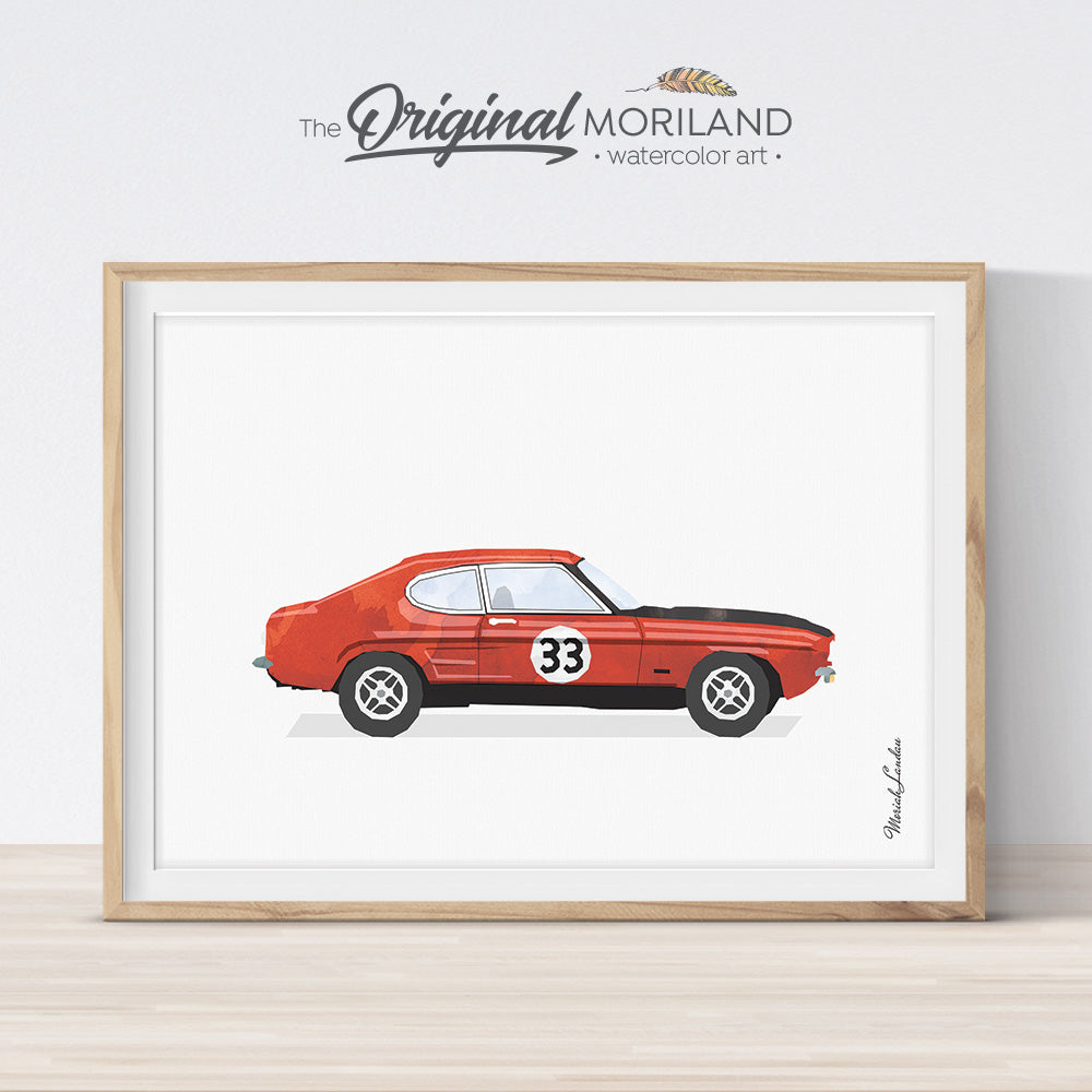 Ford Capri Art gift for him and for boy room decor
