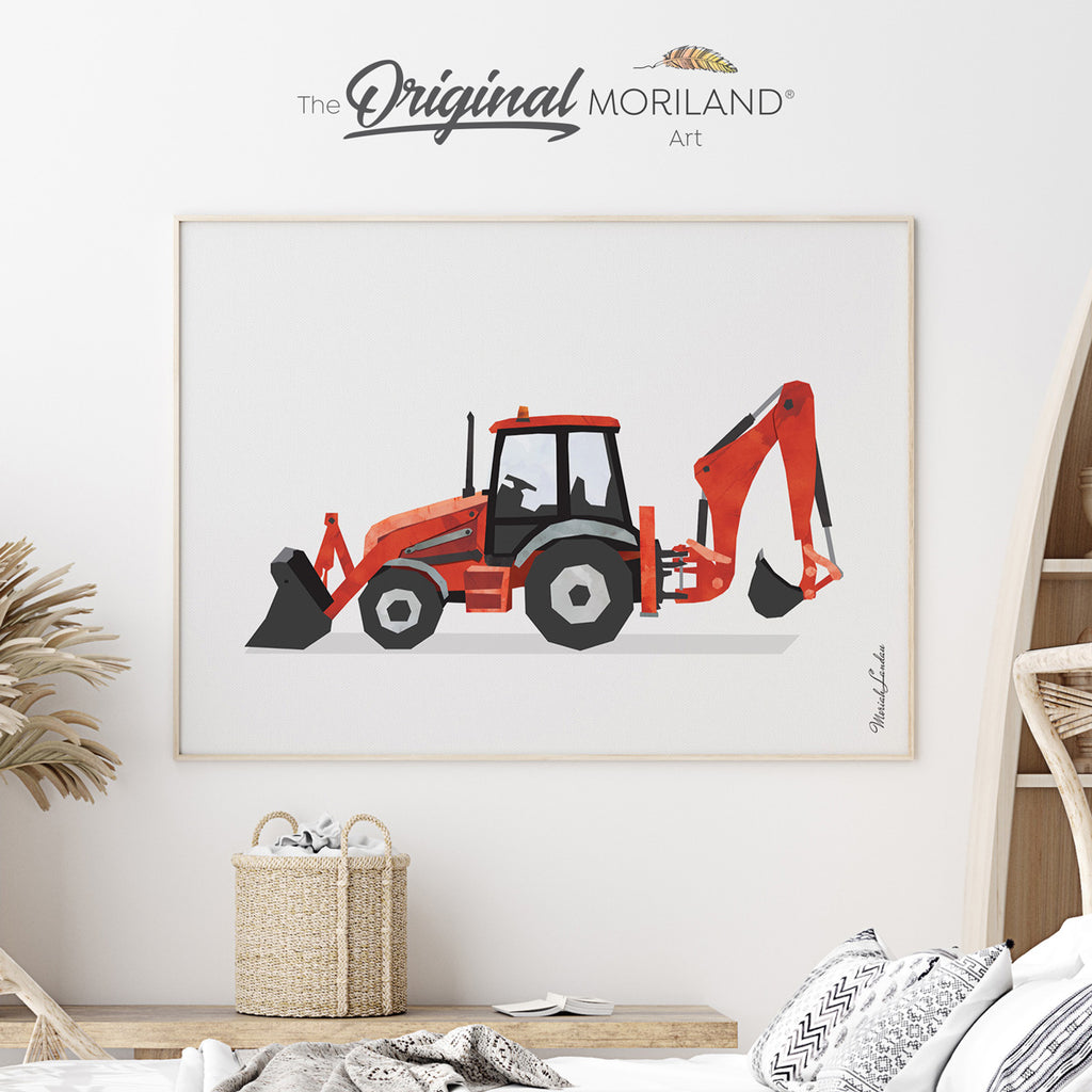Digger Print for boy nursery by MORILAND