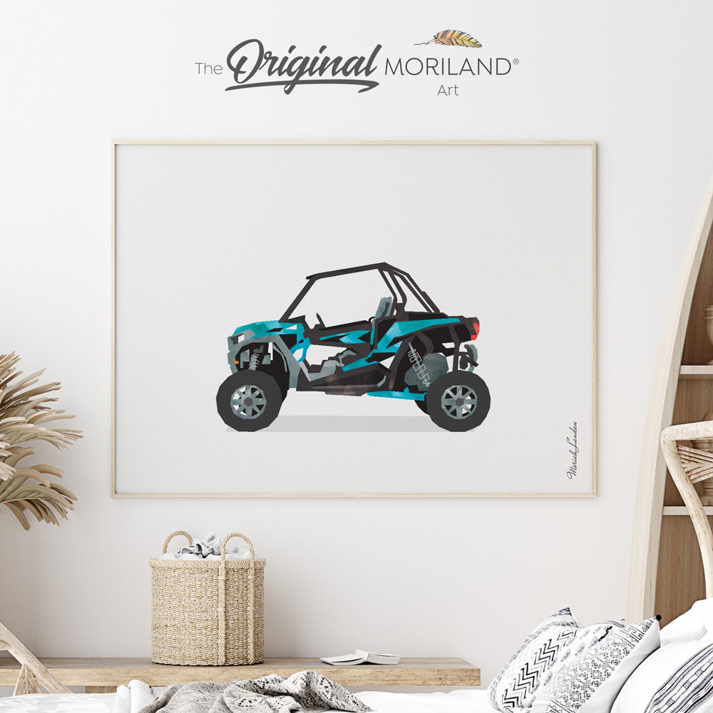 UTV Fine Art Paper Print, Girl Boy Room Wall Decor, Off-Road Vehicle, Transportation Decor, Vehicle Print, Vehicle Art, Automobile Art, Kid Room Decor, Kids Poster by MORILAND