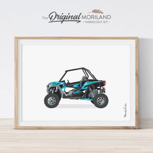 UTV Polaris RZR Wall Art print for big boy bedroom decor