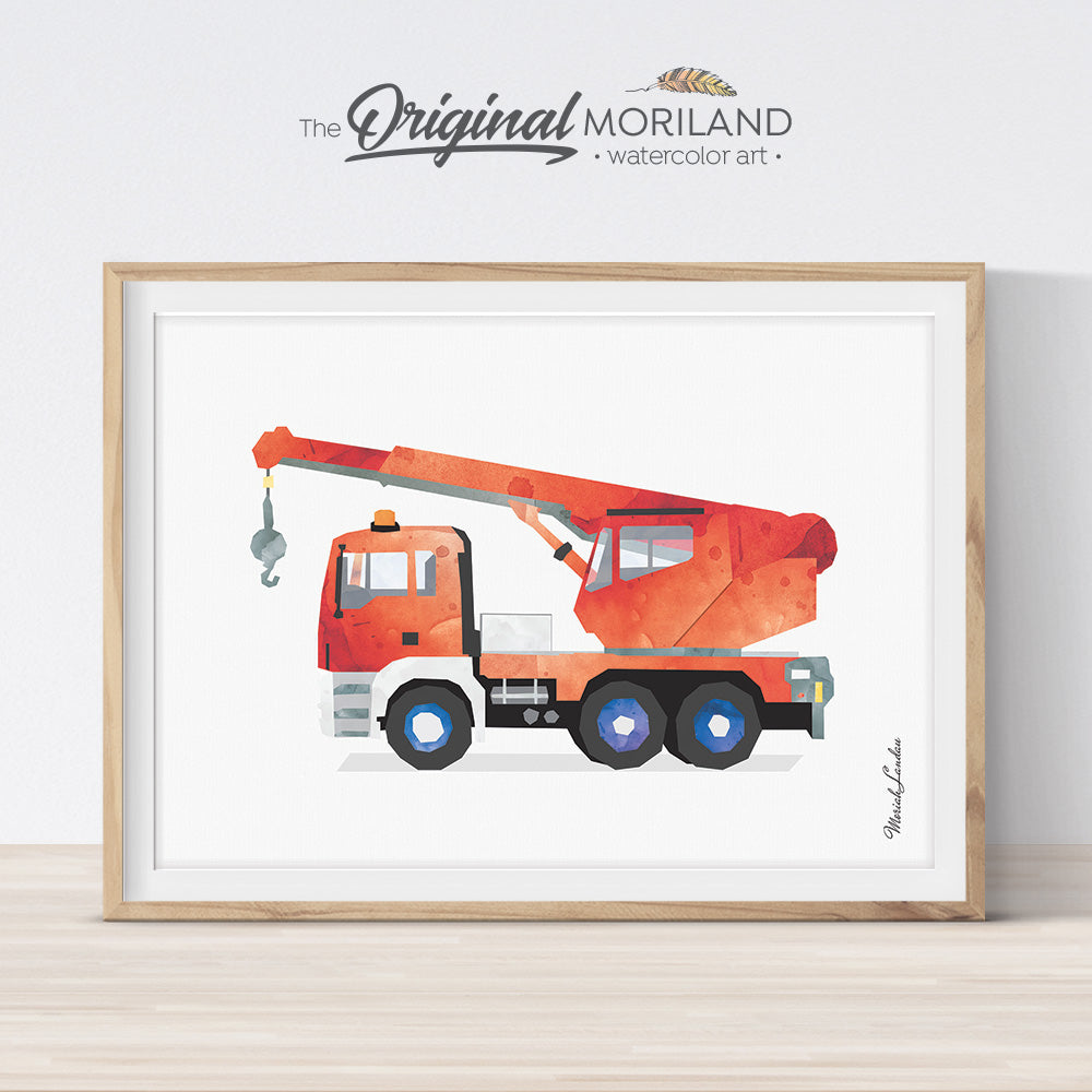 Crane Wall Art for Boy Bedroom Decor