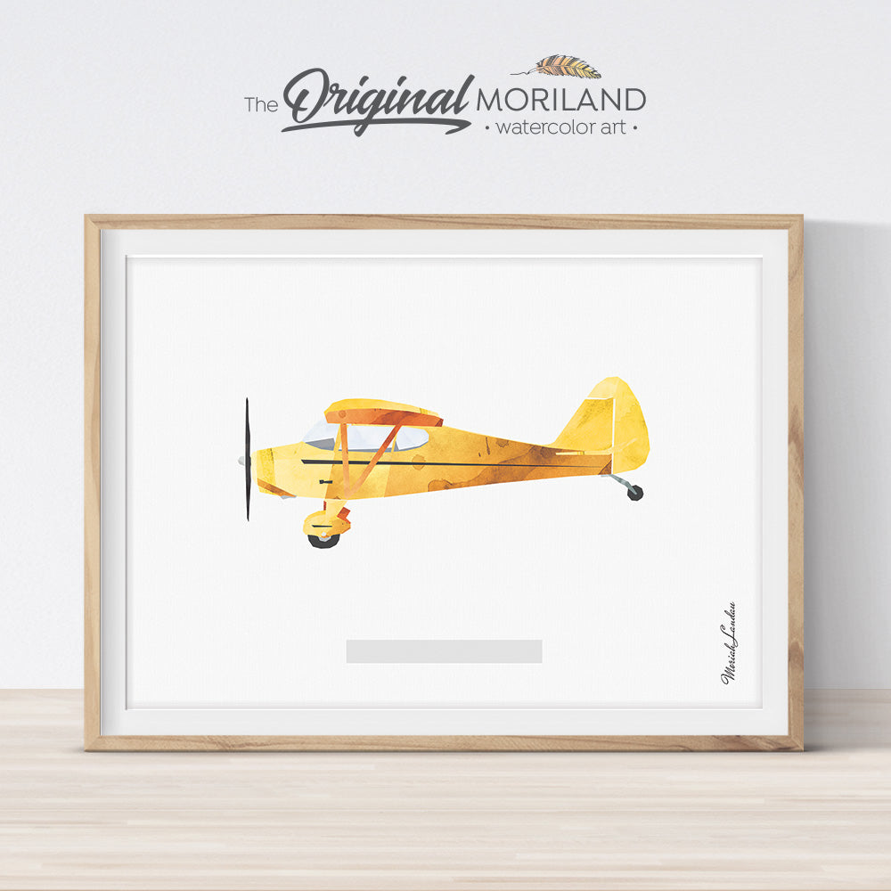 Piper Vagabond Plane wall art Print for kids room and nursery decor