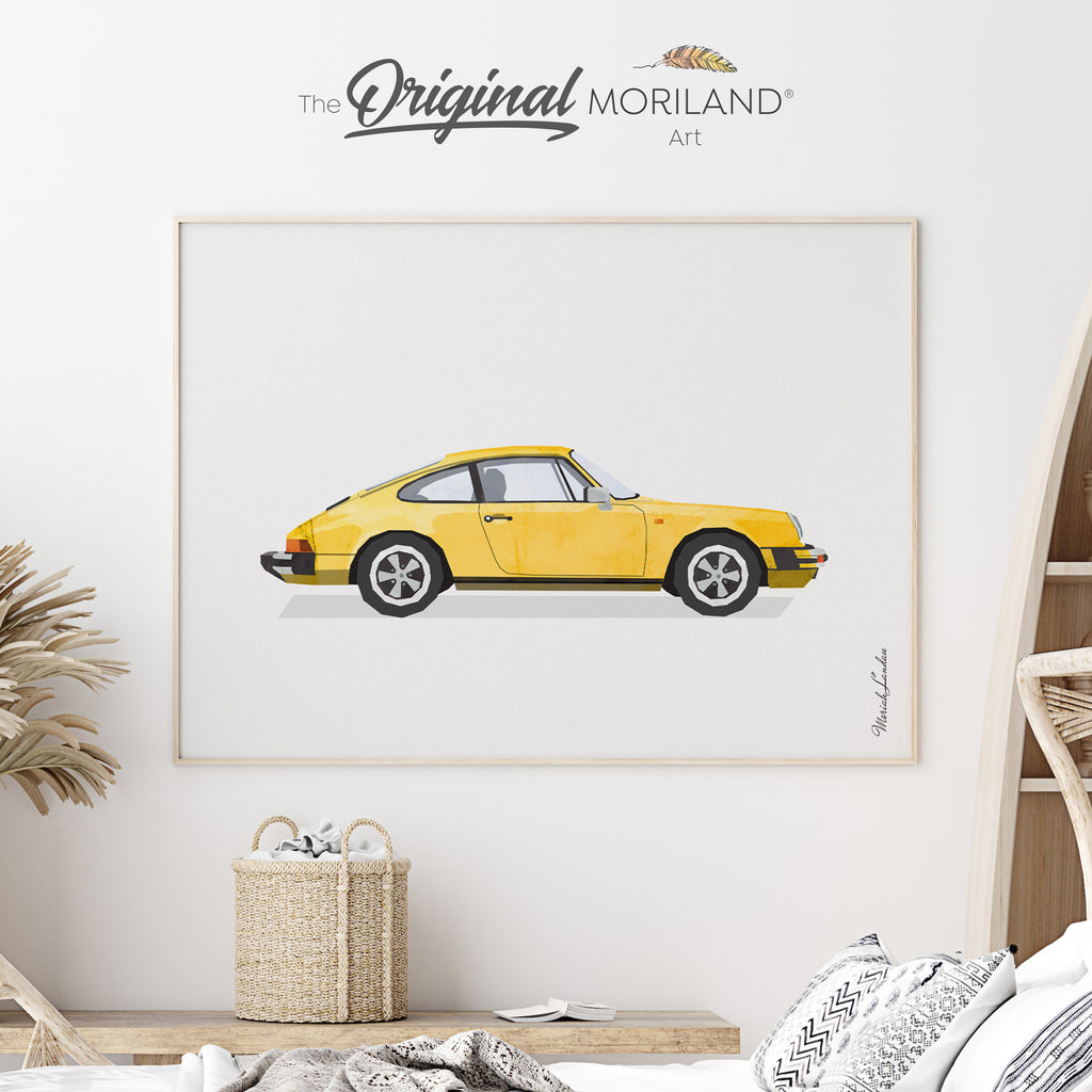Classic Car Fine Art Print for Boy Room Decor