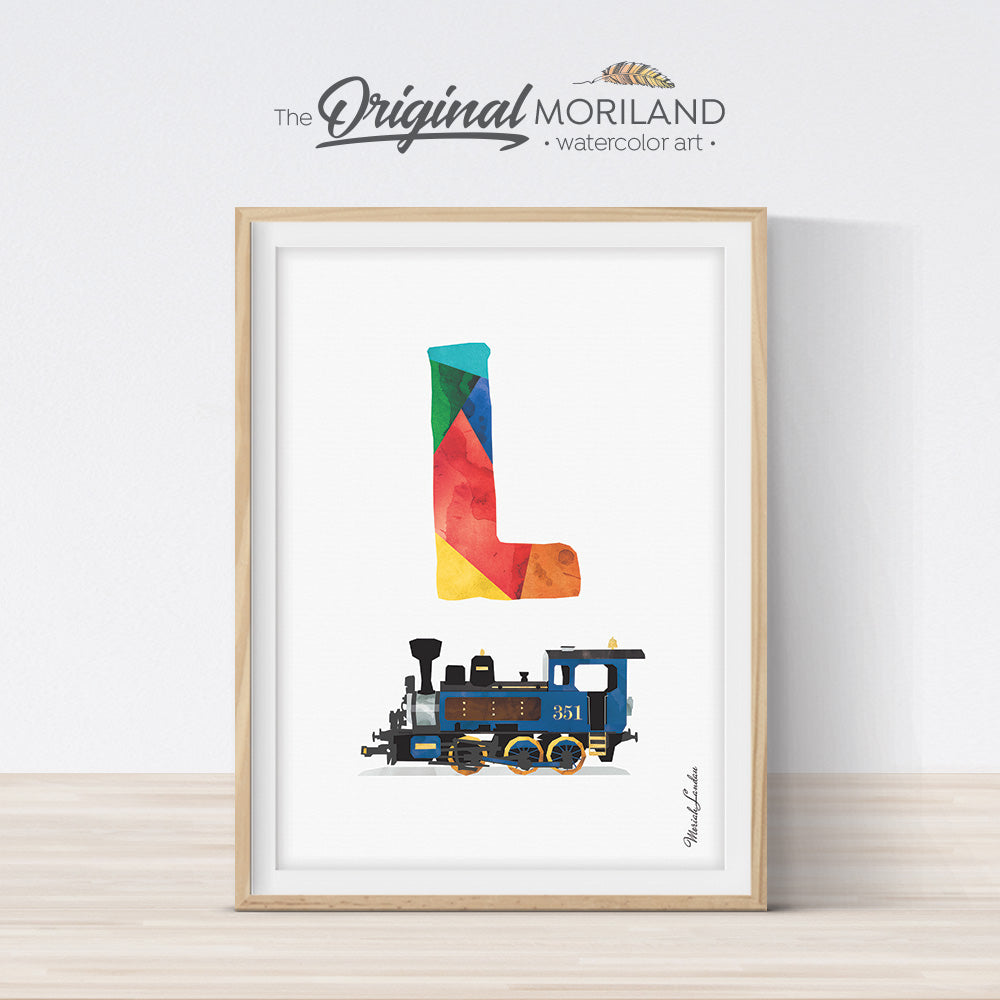 Transportation Alphabet Letter L Print - Printable Art