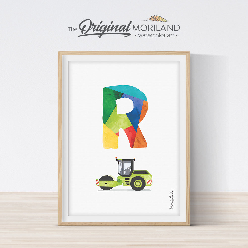 Transportation Alphabet Letter R Print - Printable Art