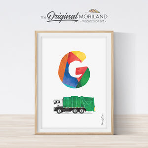 Transportation Alphabet Letter G Print - Printable Art