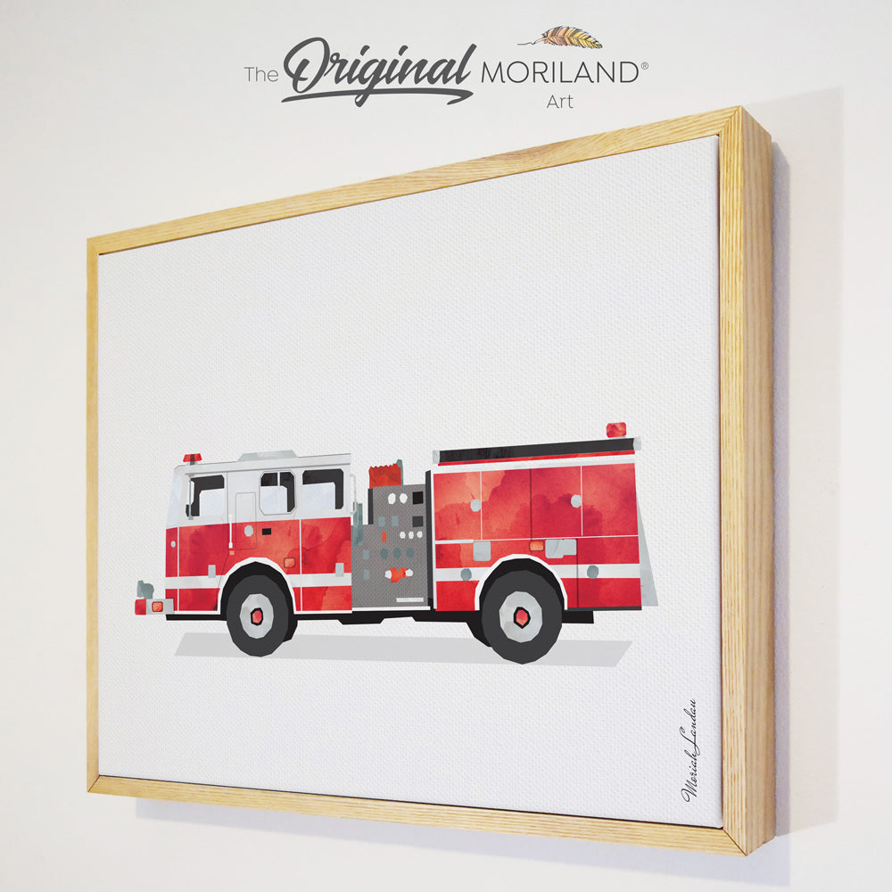 fire engine fire truck wall decor for toddler room decor by MORILAND