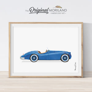 Classic Convertible Car Wall Art print for boy room decor