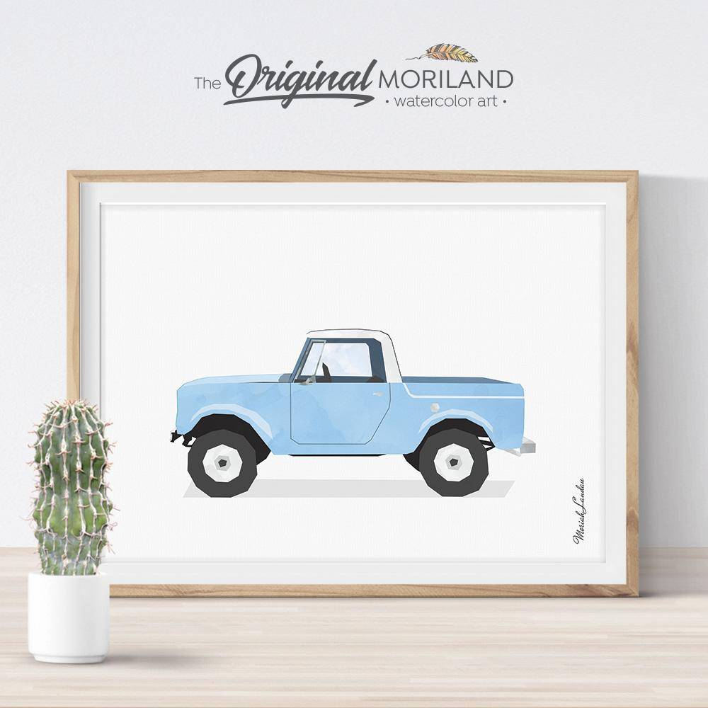 Old Timer truck art for nursery boy bedroom decor by MORILAND