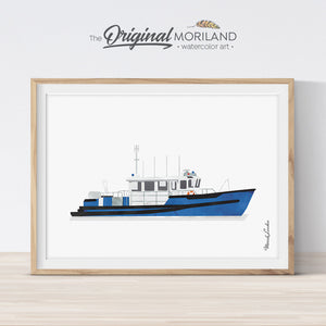 Police watercraft Print Printable Art for boys room decor