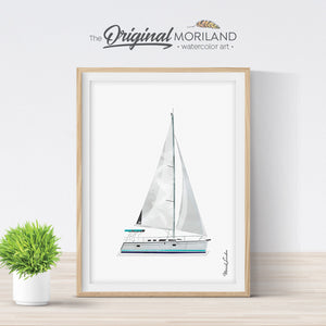 Sailing Yacht Wall Art Gift