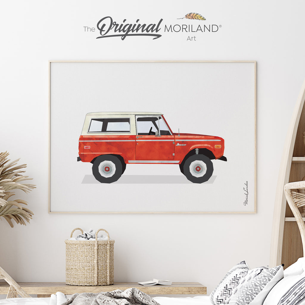 Vintage SUV Fine Art Print for Boy Room Decor