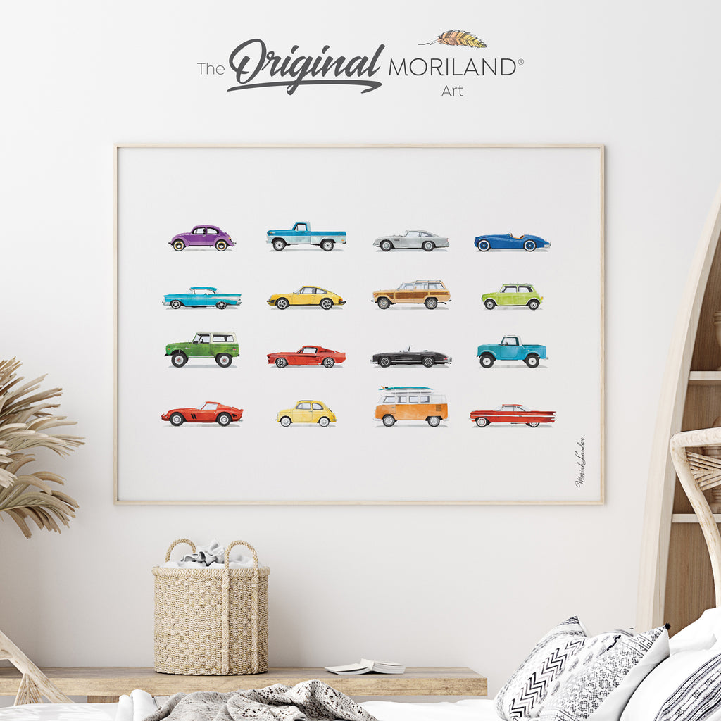 Old-timer, vintage Classic Cars Fine Art Print for Boy Room Decor
