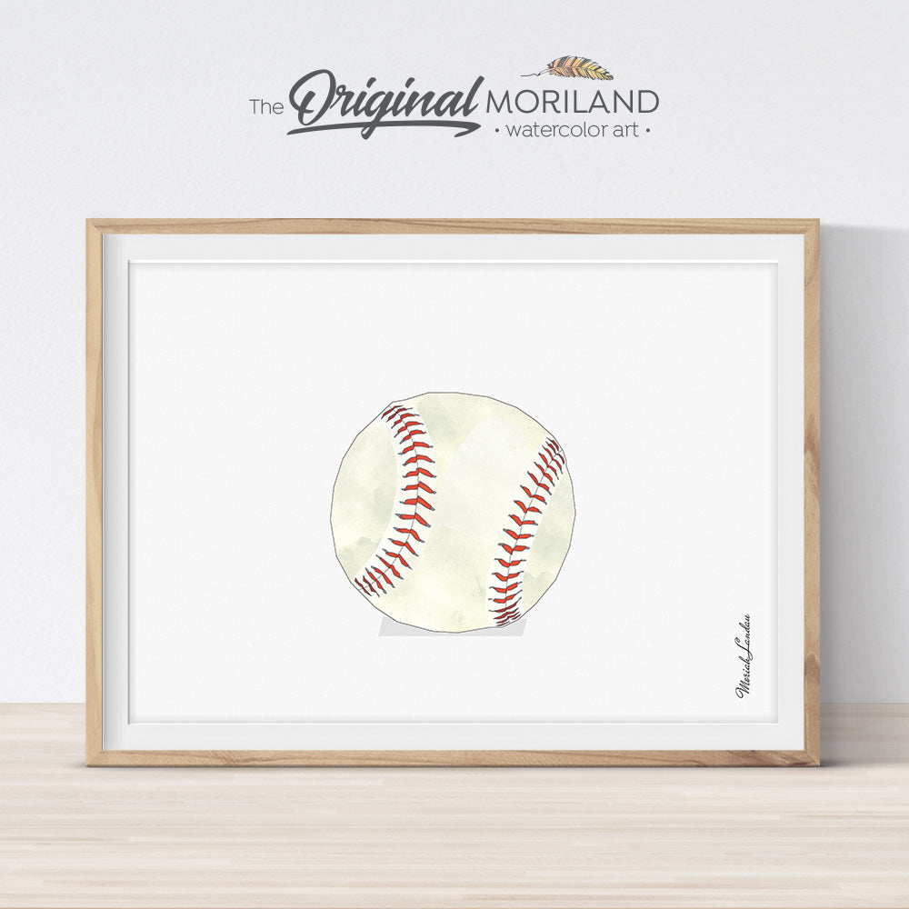 baseball wall art print for boy room decor