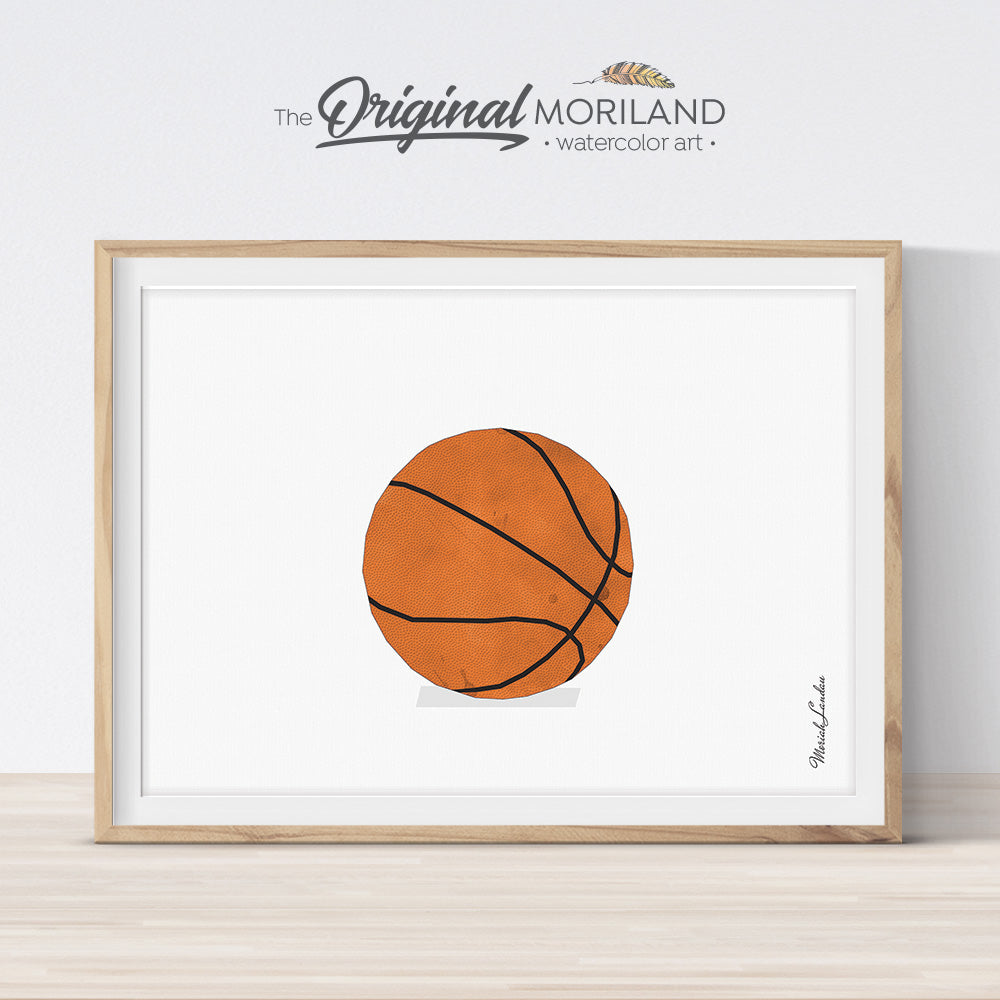 Basketball art print for boy bedroom decor