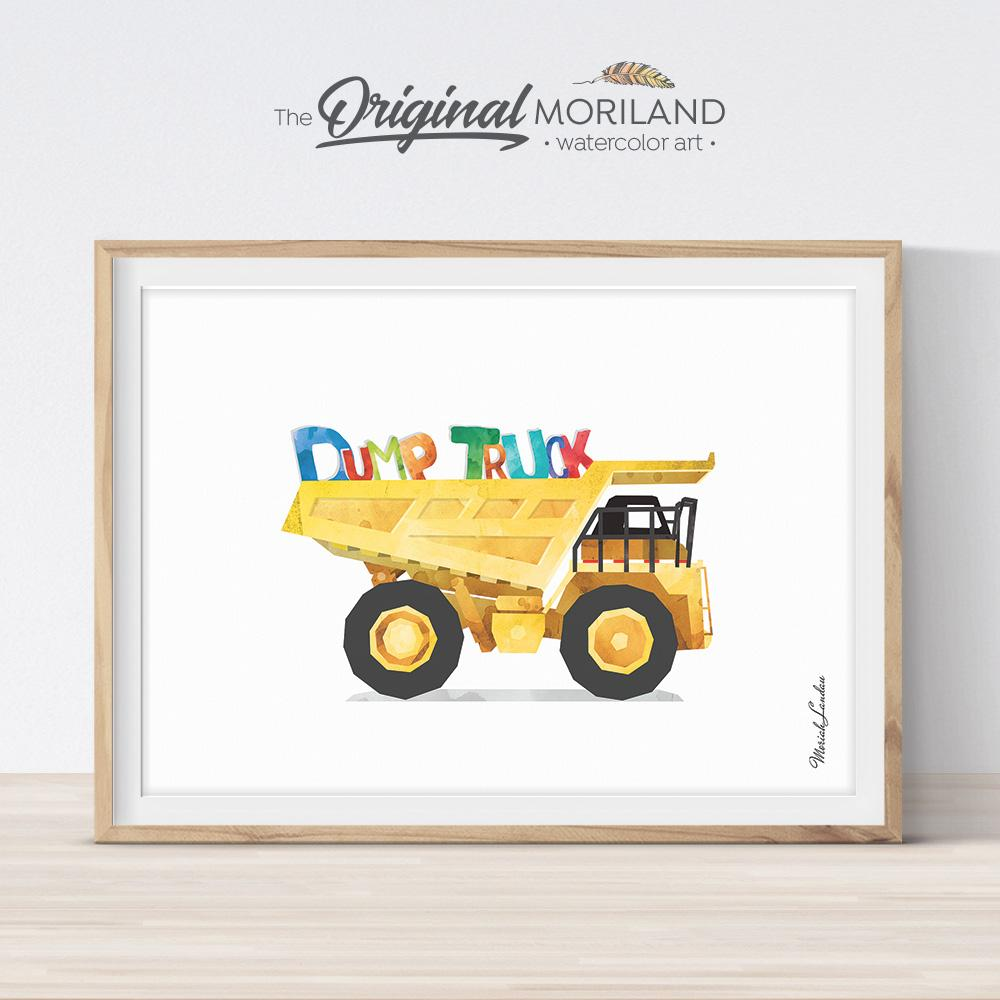 construction preschool learning printable dump truck by MORILAND