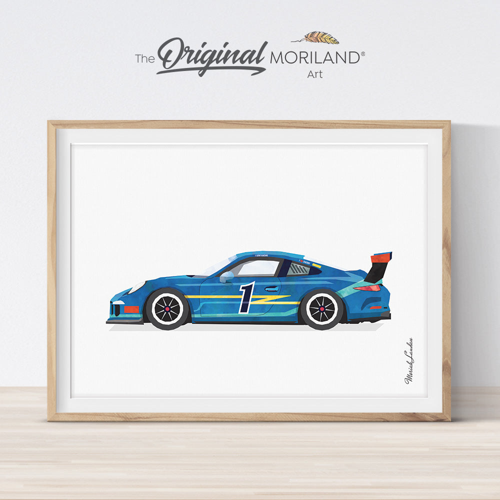 Sports Car Racing Car Print - Printable Art by MORILAND