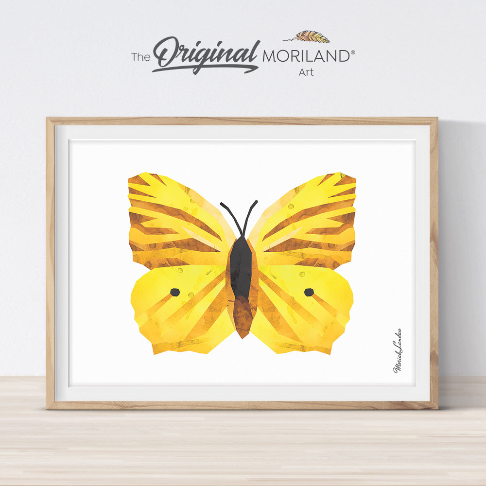 Watercolor butterfly printable wall art for girls bedroom décor by MORILAND