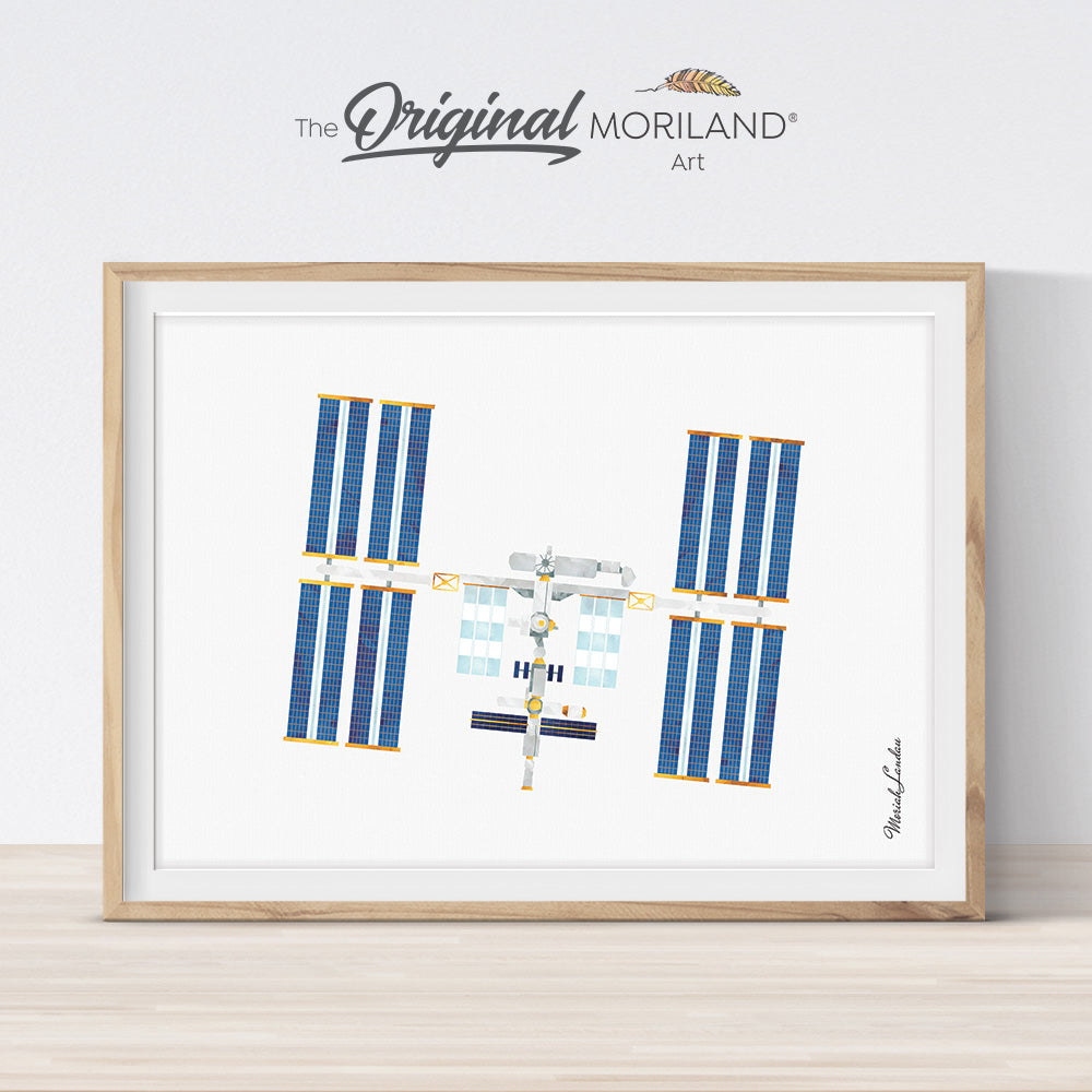 International Space Station Art Print - Printable Art by MORILAND