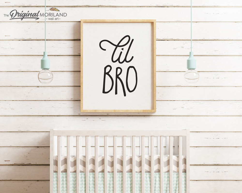 Little Brother Print, Lil Brother Wall Decor, Little Brother Sign, Lil Bro, Brother Announcement Printable, Little Brother Wall Art, Nursery