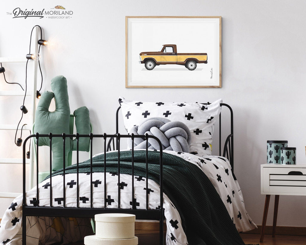 Truck Print, Pickup Truck Wall Art, Classic Car Print, Truck Art, Boy Nursery Decor, Car Printable Poster, Transportation Decor, MORILAND