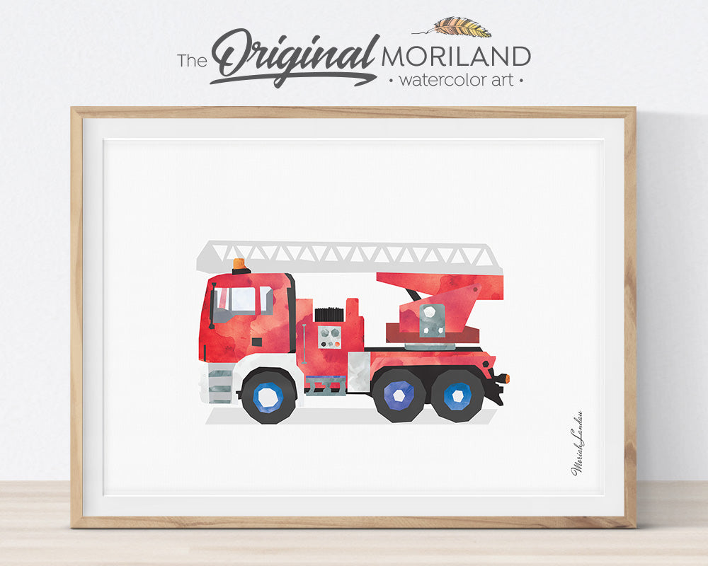 Firetrucks - Printable Set of 8 - LAND11