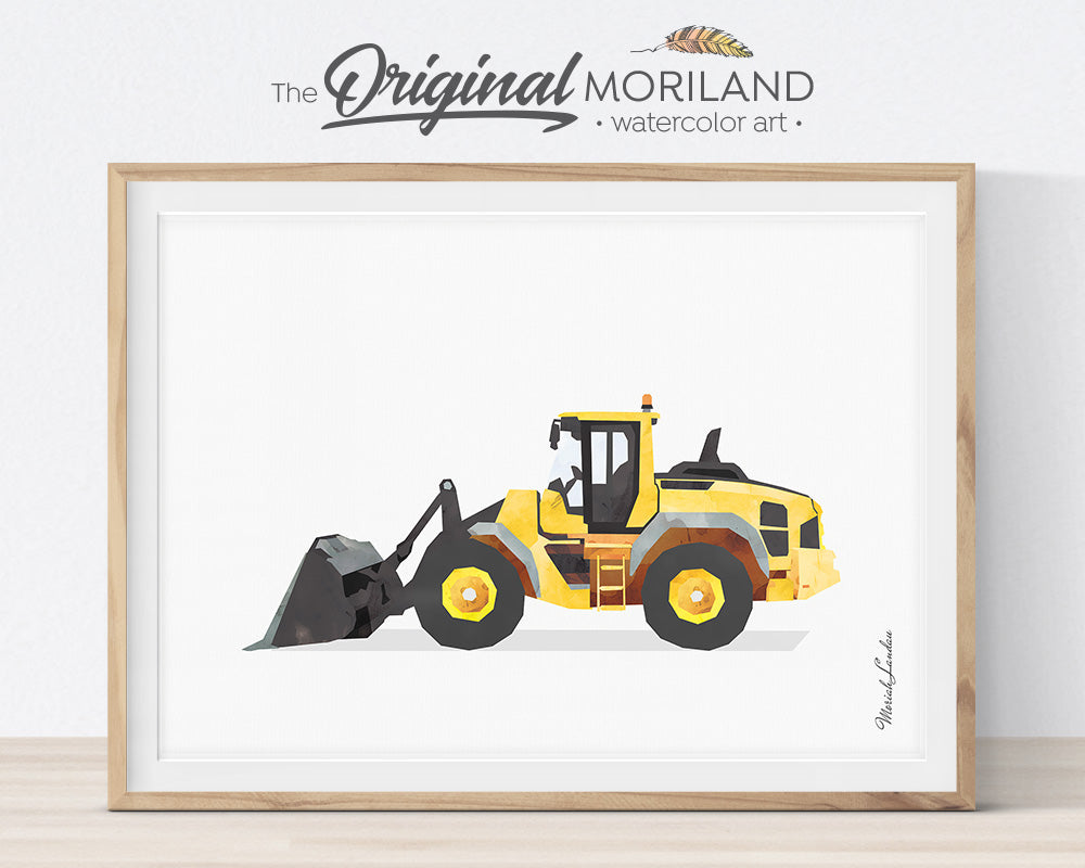 Loader, Construction, Vehicle, Truck, Print, Wall Art, Toddler, Decor, Printable