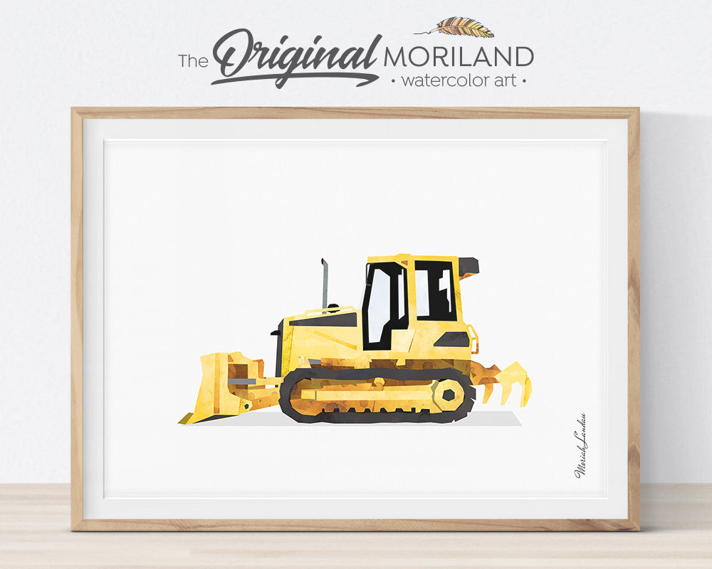 Bulldozer, Construction, Vehicle, Truck, Print, Wall Art, Toddler, Decor, Printable