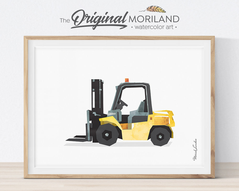 Loader, Construction, Vehicle, Truck, Print, Wall Art, Toddler, Decor, Printable, Bulldozer, Digger, Alphabet Wall Art, Classroom Decor, Skid Steer, Backhoe, Excavator