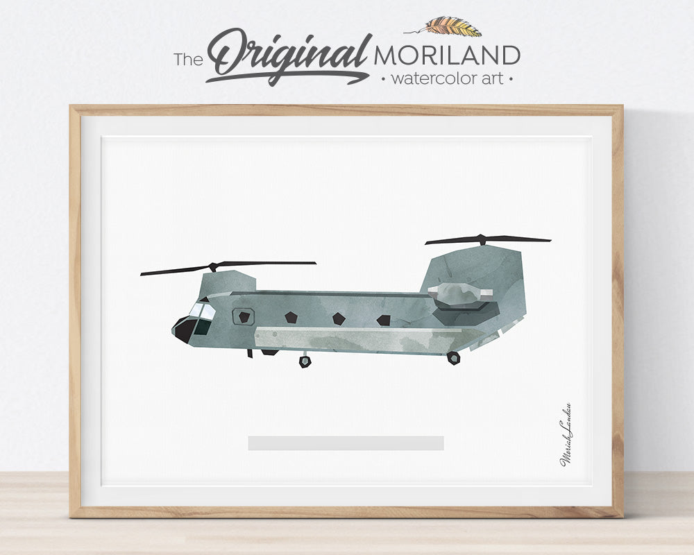 Chinook helicopter art