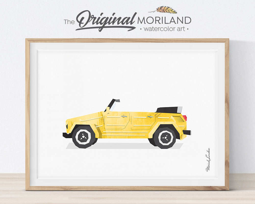 VW thing, Print, Wall Art, Toddler, Decor, Printable