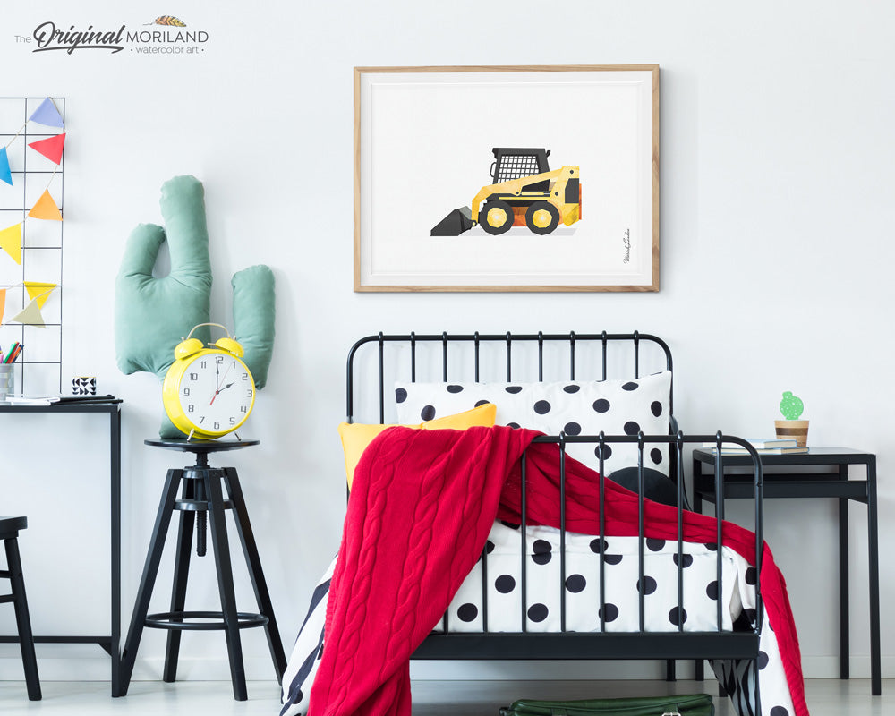 Skid Steer wall art Print for party decorations and boy room decor