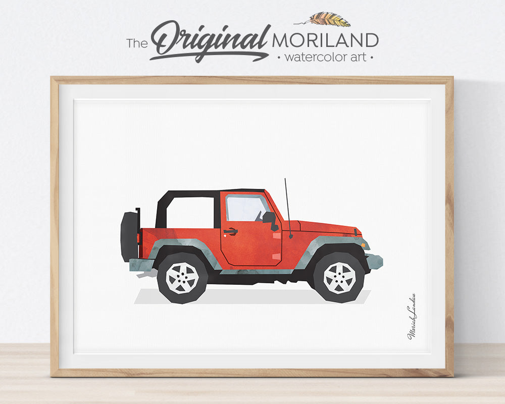 YJ Jeep, Print, Wall Art, Toddler, Decor, Printable