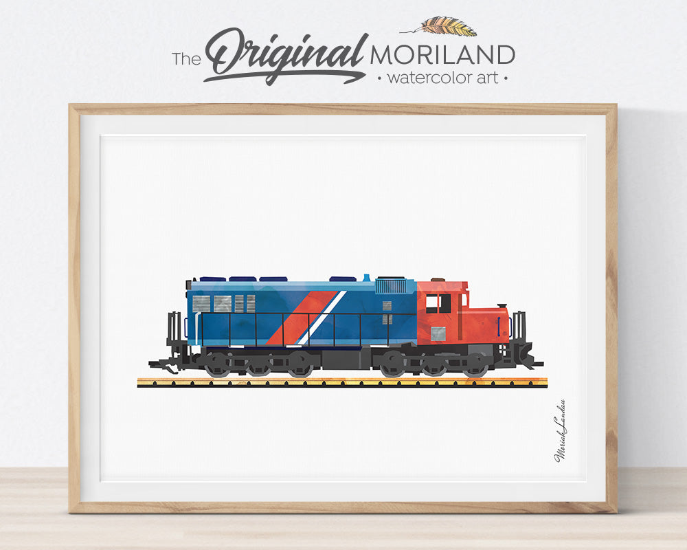Diesel Train, Transportation, Railroad, Vehicle, Truck, Print, Wall Art, Toddler, Decor, Printable