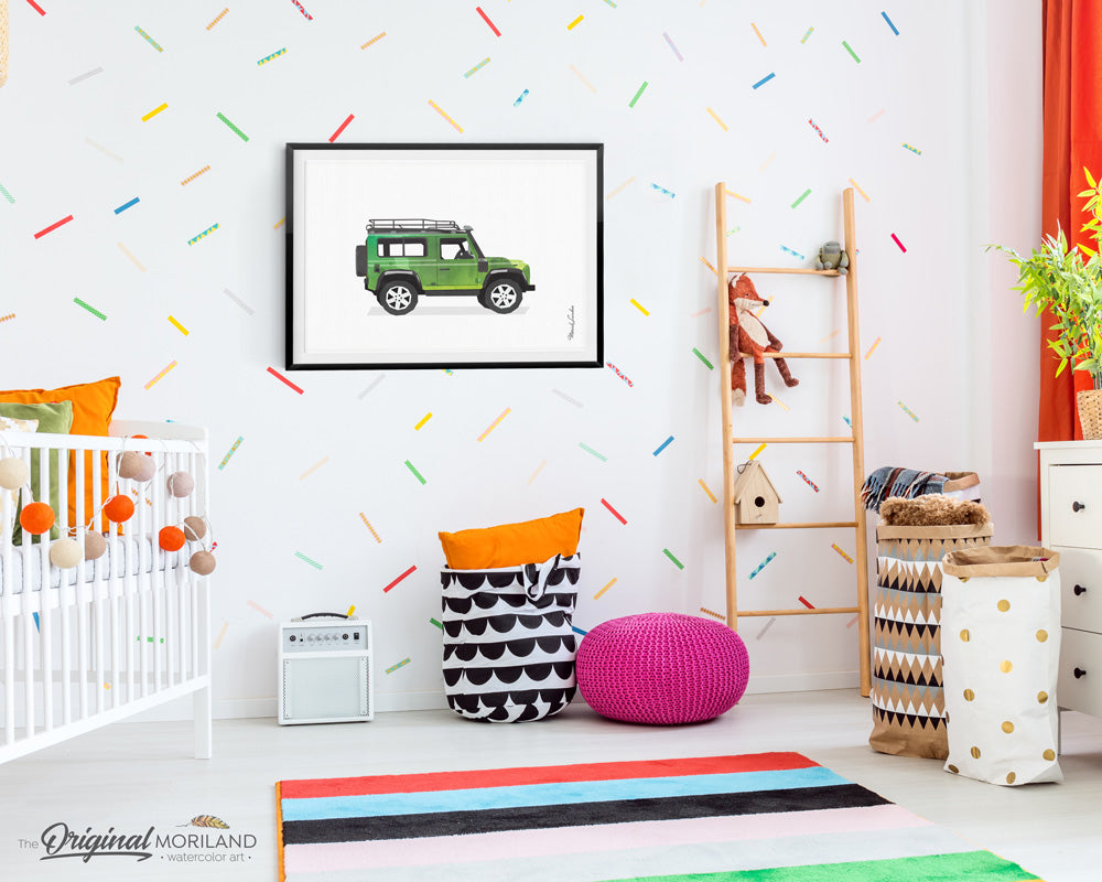 Land Rover wall art Print for kids room decor