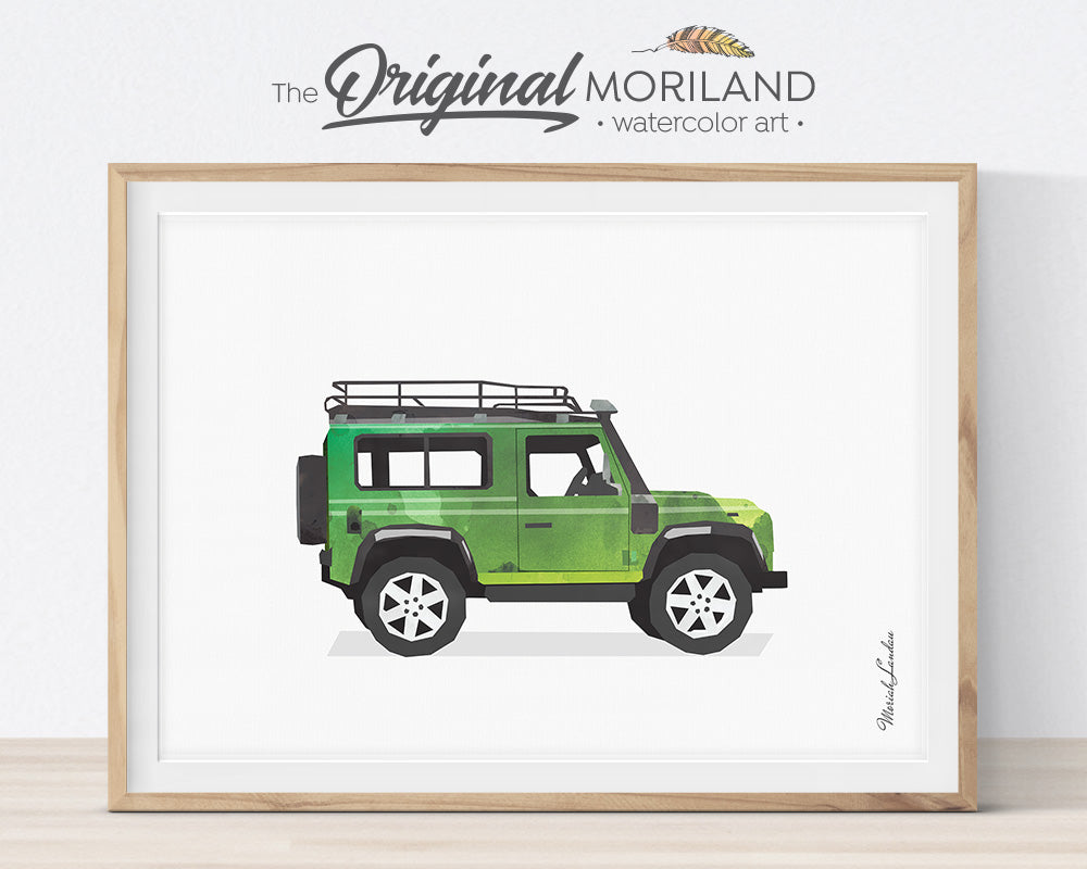 Transportation Wall Art, Land Rover, Print, Nursery Printable