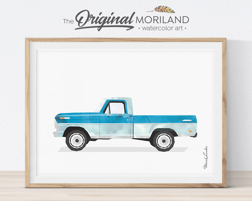 Ford Pickup, Print, Wall Art, Toddler, Decor, Printable