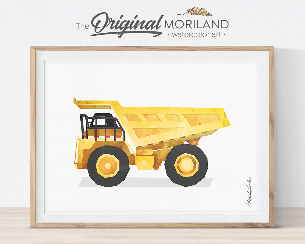 Dump Truck, Construction, Vehicle, Truck, Print, Wall Art, Toddler, Decor, Printable