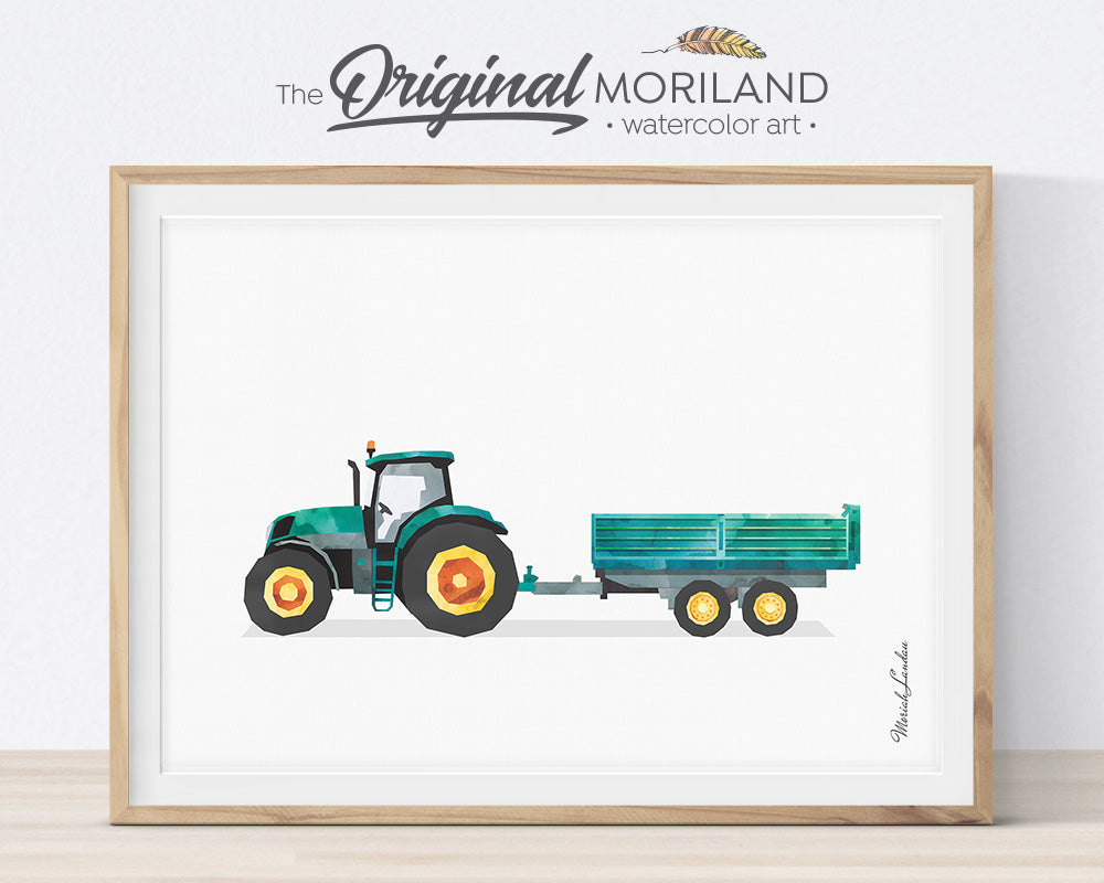 Farm Vehicles - Printable Set of 9 - LAND29