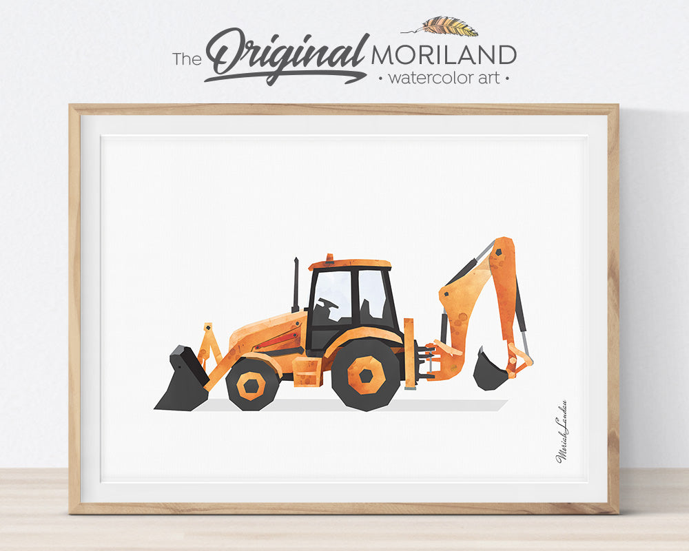 Farm Vehicles Decor, Preschool, Boy Bedroom Art, Digger Printable, Tractor Nursery, Tractor Birthday, Farmhouse Room Decor, Forklift, International Scout Truck, Backhoe, Alphabet Print, MORILAND Wall Art