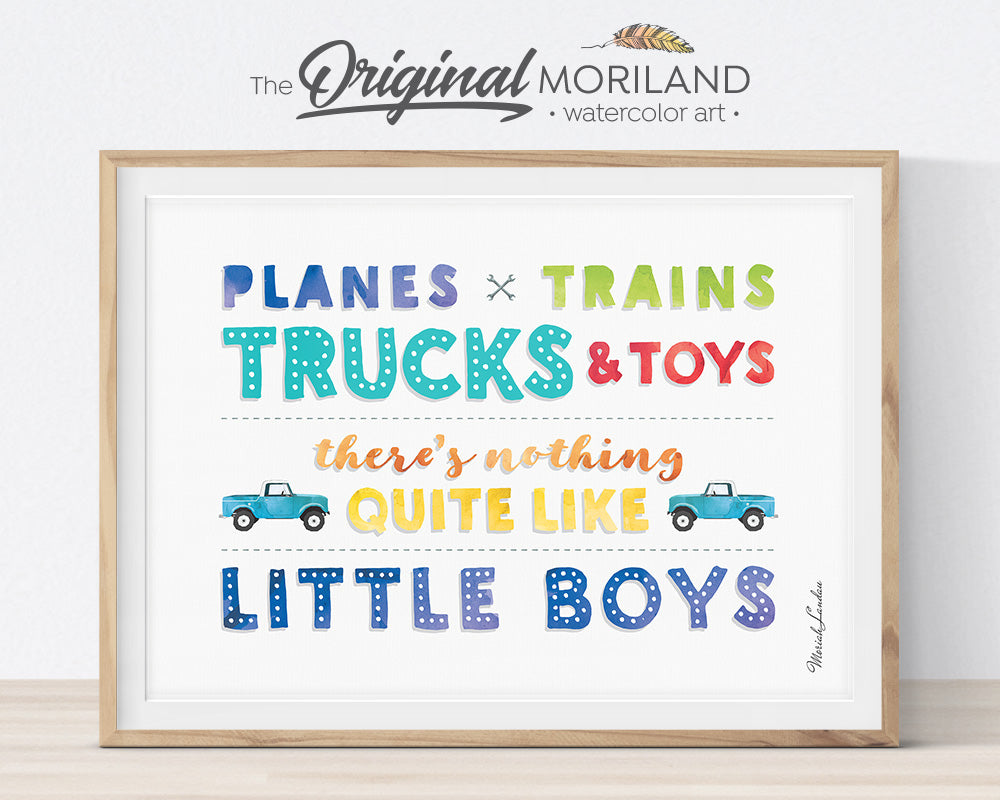 Farm Vehicles Decor, Tractor Wall Art, Preschool, Boy Bedroom Art, Digger Printable, Tractor Nursery, Tractor Birthday, Farmhouse Room Decor, Skid Steer, Pickup Truck, Backhoe, Planes Trains Trucks and Toys Print, Little Boys, Combine Decor, MORILAND Wall Art