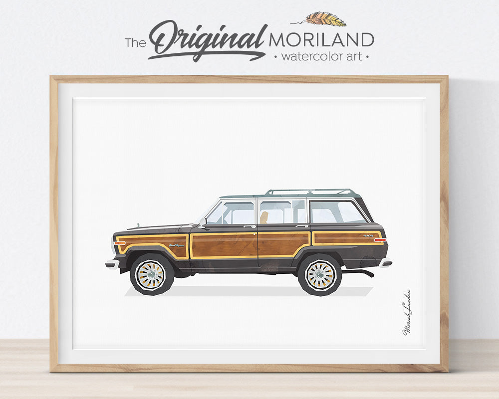 Jeep Wagoneer, Print, Wall Art, Toddler, Decor, Printable