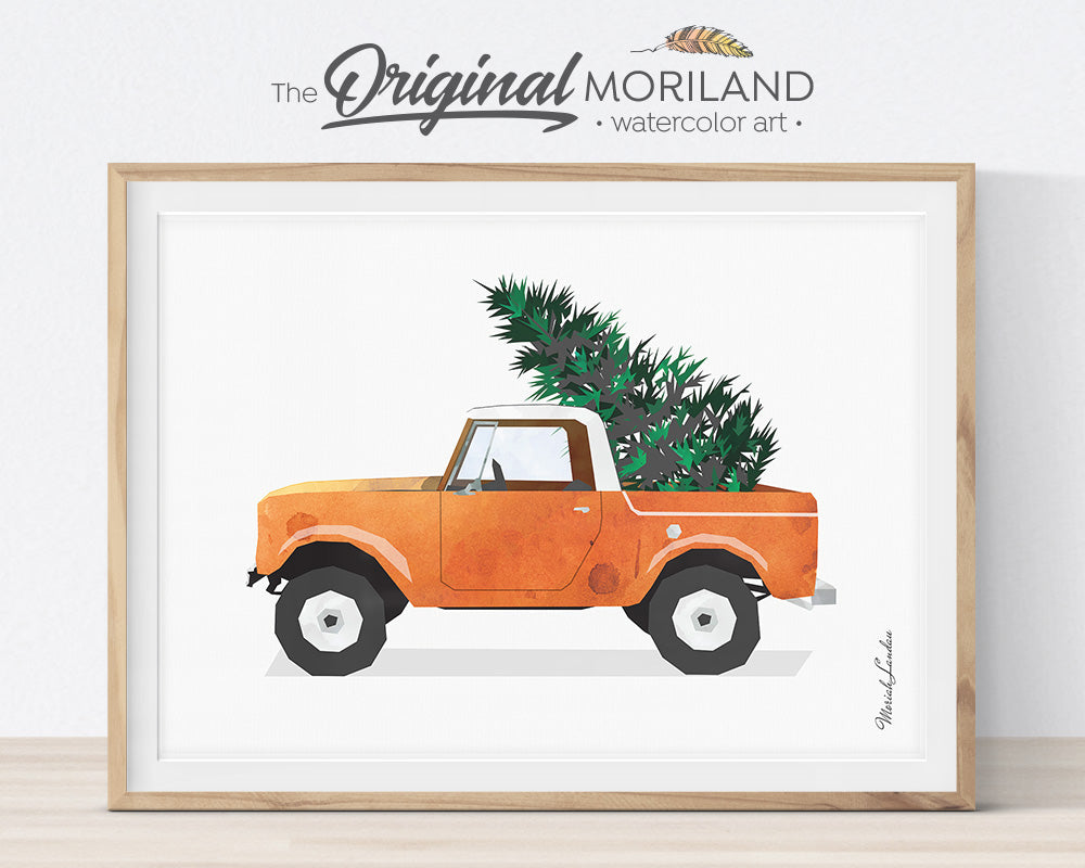Christmas Truck, Printable Decorations Card